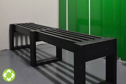 Gym locker room benches