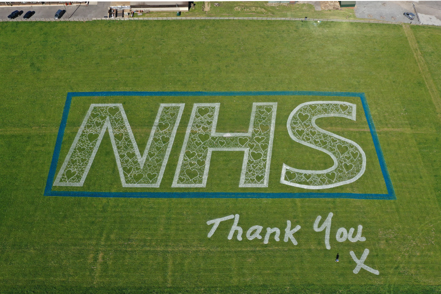 Tribute for our hero's at the NHS