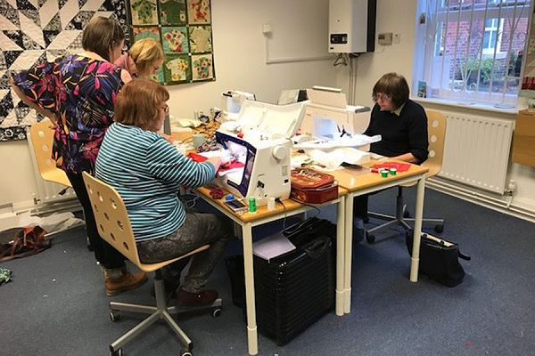 Quilt making group